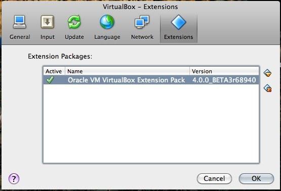 「VirtualBox 4.0」におけるエクステンションパック