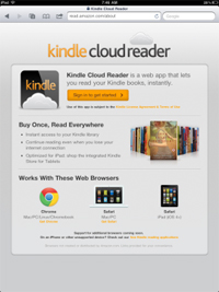 AmazonのHTML5対応ウェブアプリ「Kindle Cloud Reader」