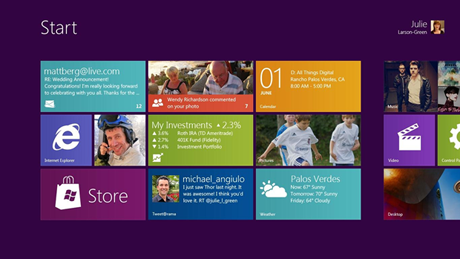 Windows 8のMetro UI