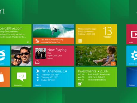 Windows 8の新機能を画像で
