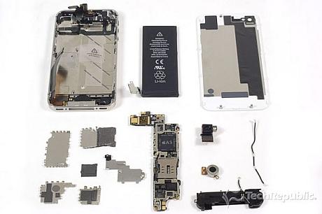 フォトレポート 分解 iphone 4s iphone 4 との内部の違いは