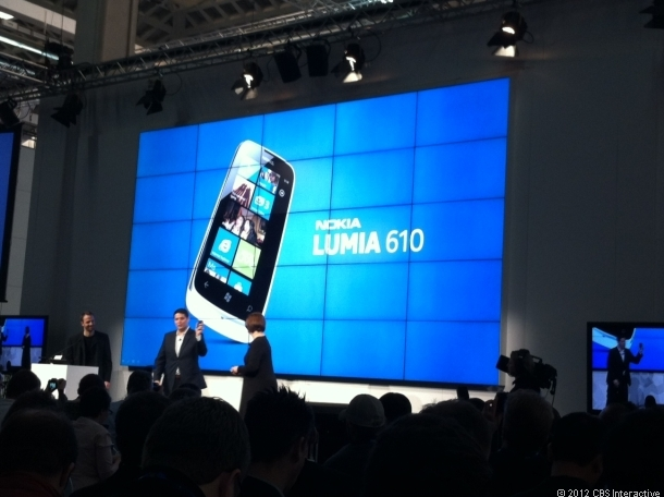 Mobile World Congressで発表されたNokiaのLumia 610