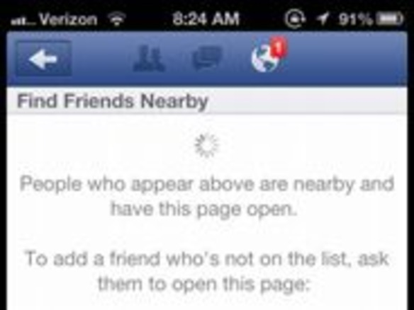 Facebook、「Find Friends Nearby」機能をひそかに削除