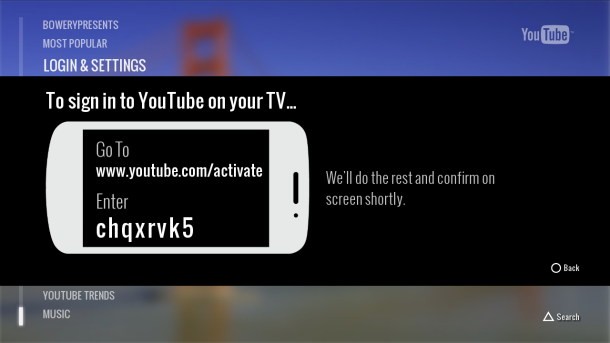 PS3 YouTube app