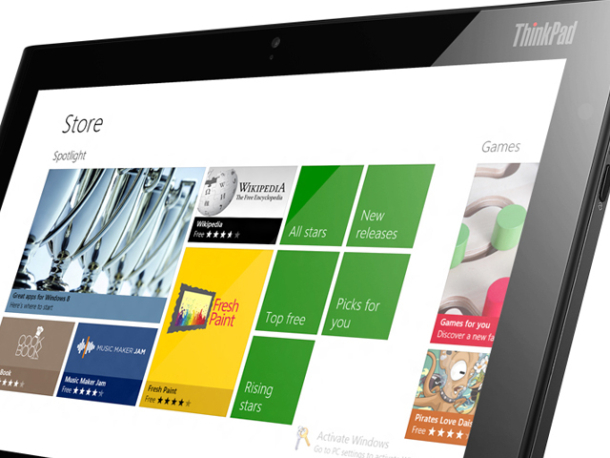 Windows 8を搭載するLenovoの「ThinkPad Tablet 2」