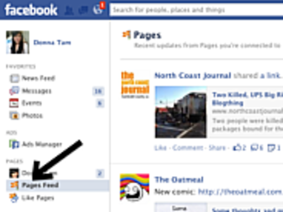 Facebook、宣伝投稿のみを表示する「Pages Feed」を公開