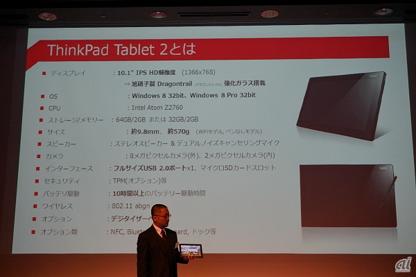 ThinkPad Tablet 2のスペック