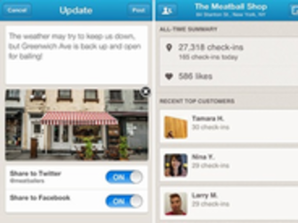 Foursquare、事業者向けモバイルアプリ「Foursquare for Business」を提供