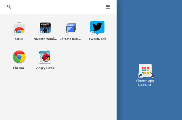 Windows版Chrome App Launcher
