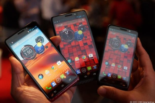左からVerizonのMotorola Droid Ultra、Maxx、Mini