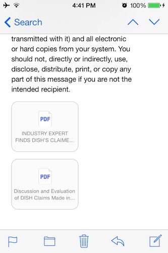 iOS 7ユーザーは、受信箱から直接PDFファイルにアクセスできるようになった。これは、以前はできなかったことだ。簡単なことに見えるかもしれないが、ビジネスでの利用に大きな影響を与えるもので、iPhoneやiPadのユーザーは、サードパーティークライアントを使わなくてもドキュメントを見ることができるようになる。