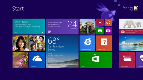 Windows 8.1 Previewの画面