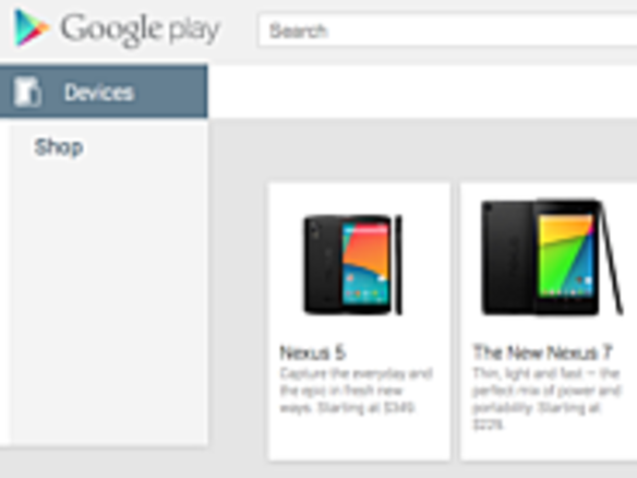 「Nexus 5」、「Google Play」に一時登場