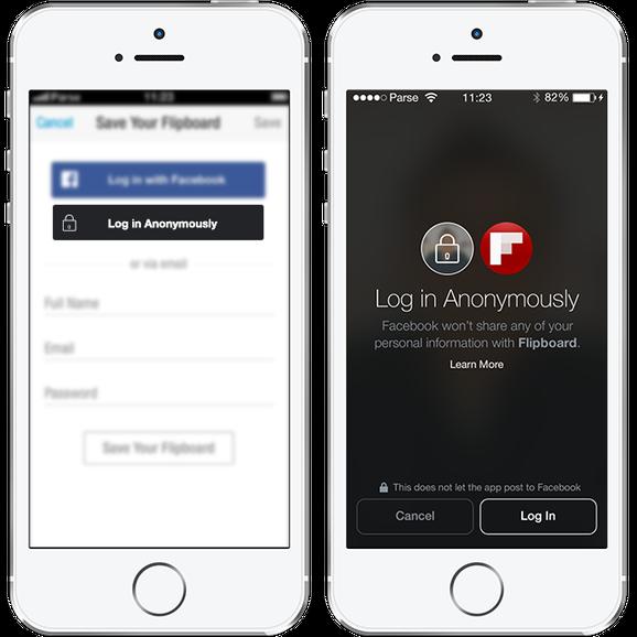 facebook anonymous login を発表 サードパーティーアプリで匿名