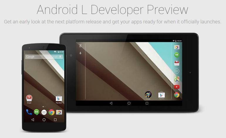 GoogleがGoogle I/OでリリースしたAndroid L Preview