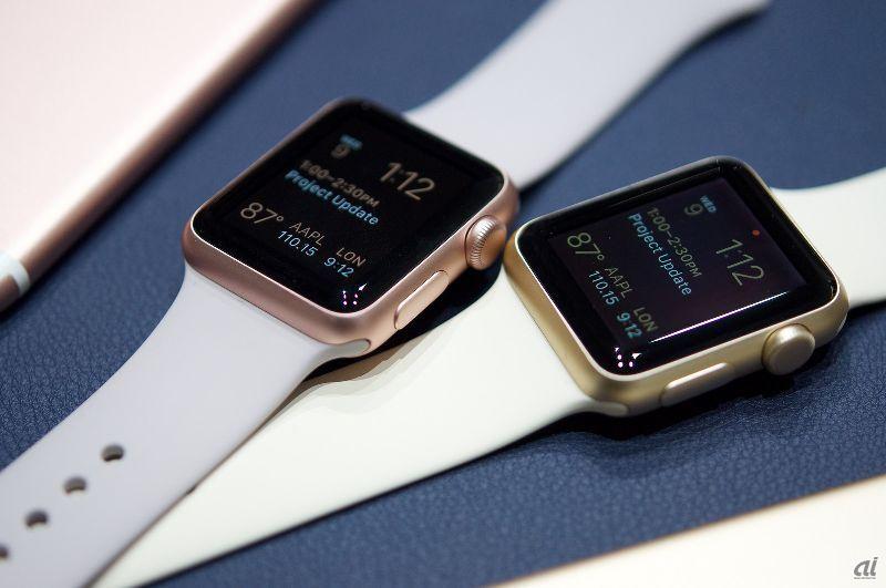 apple watch sport の新色 ゴールドとローズゴールドをチェック cnet