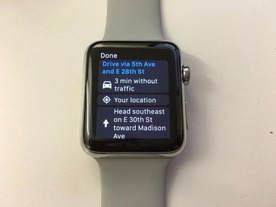「Google Maps」、「Apple Watch」に対応