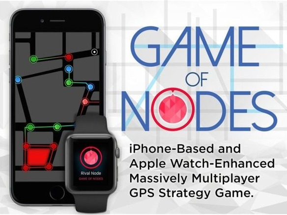 Ingress似のiPhone向け陣取りゲーム「Game of Nodes」--Apple Watchに対応