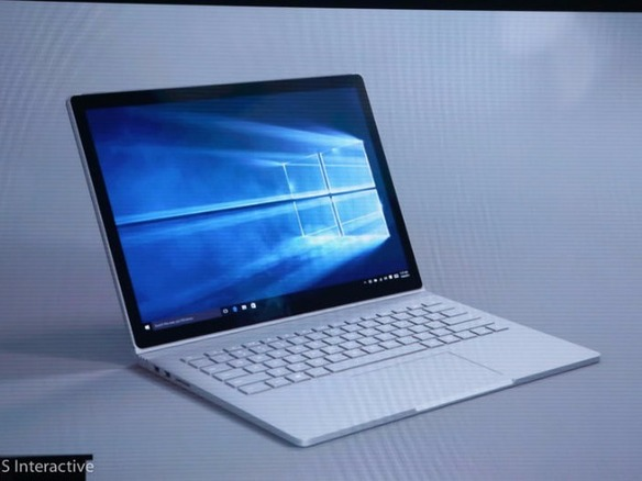 MS、同社初のノートPC「Surface Book」を発表--13.5インチ画面搭載の2in1