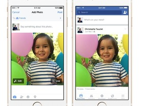 Facebook、「iPhone 6s」の「Live Photos」に対応--段階的にリリース