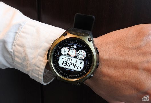 Android Wear スマートウォッチ「Smart Outdoor Watch WSD-F10」