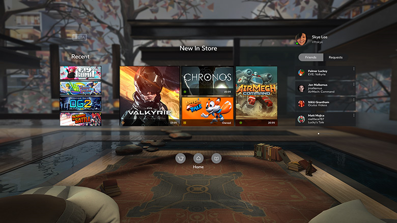 Oculus Home on Rift.