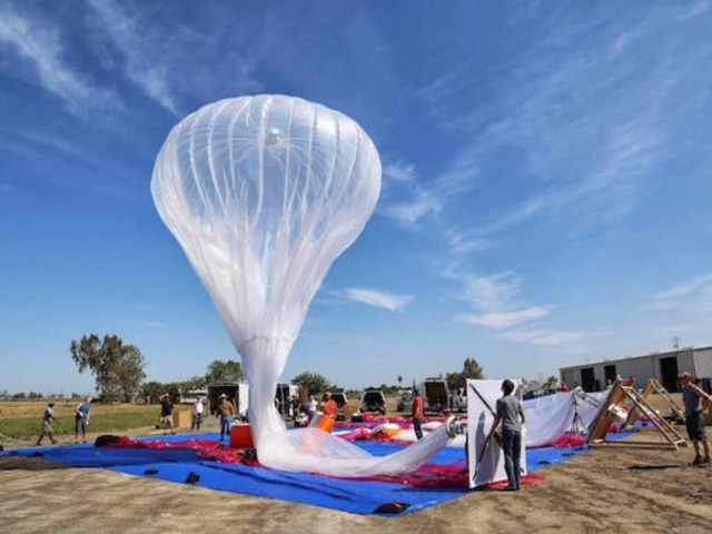 Googleの「Project Loon」による気球