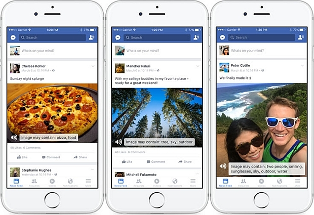 Facebook、AIを利用し画像の説明を生成する「自動代替テキスト」機能発表