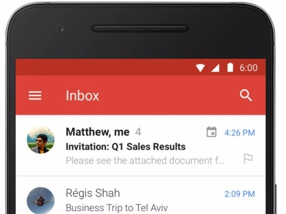 「Gmail」アプリ、全Android端末で「Microsoft Exchange」をサポート