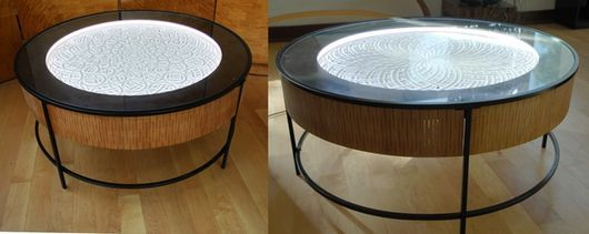 床に置いて使う3 foot coffee table(出典:Kickstarter)