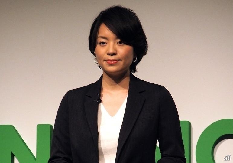 LINEモバイル代表取締役社長の嘉戸彩乃氏