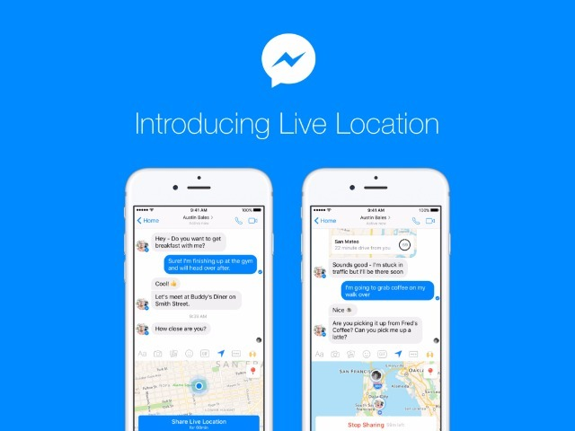 Facebook Messengerの「Live Location」機能