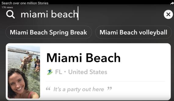 Snapchatの検索機能