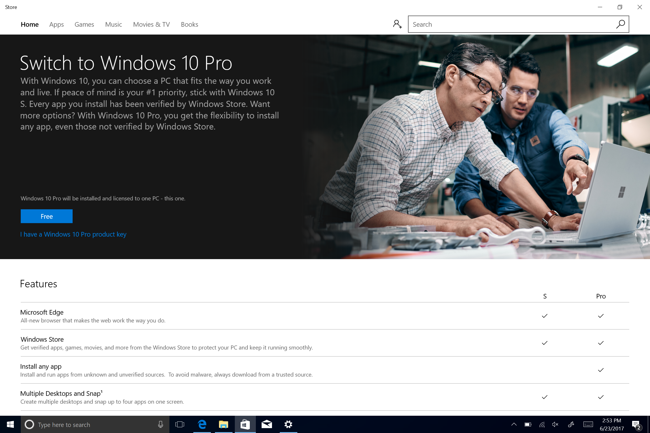 windows 10 s の windows 10 pro アップグレード法と戻し方 cnet japan