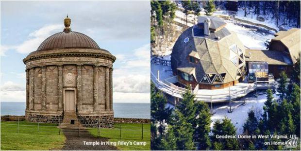 シリーズ内では一度のみ登場した「レンリー王の神殿」。北アイルランド