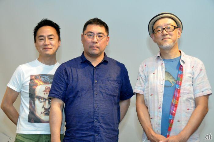 左から黒川文雄氏、三宅陽一郎氏、森川幸人氏