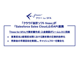 freeeとSalesforce Sales CloudがAPI連携--「freee for SFA」を提供