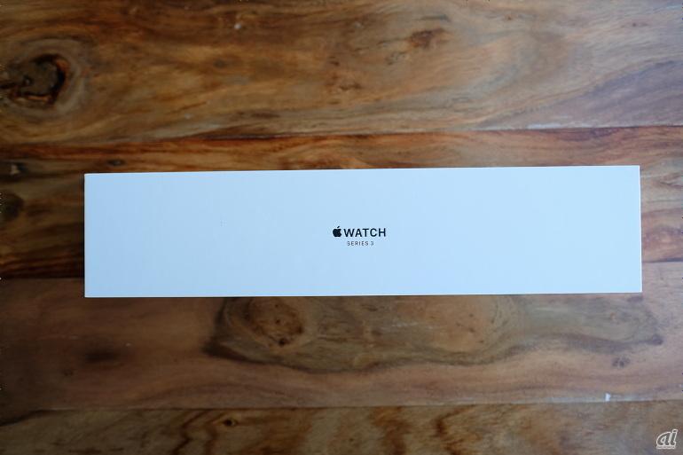 「Apple Watch Series 3」アルミニウムモデルのパッケージ
