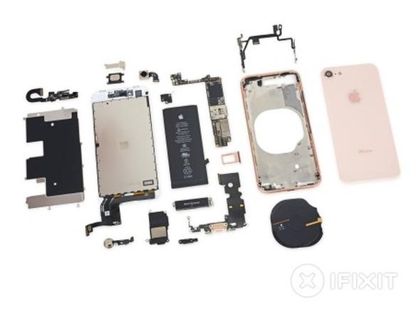 iFixit、発売当日に「iPhone 8」を分解--Qi用コイルはアップルロゴ入り ...