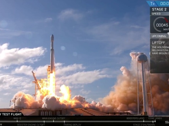 SpaceX、強力な新型ロケット「Falcon Heavy」の打ち上げに成功