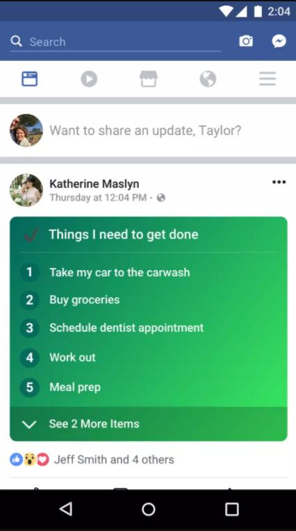 Facebookの新しいList機能