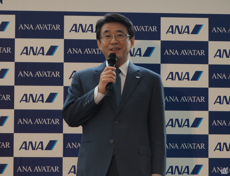 ANAHD 代表取締役社長の片野坂真哉氏