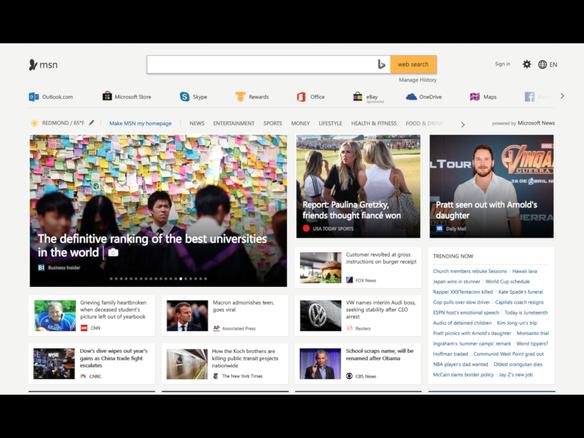 マイクロソフト ニュースエンジン microsoft news を発表 msn com
