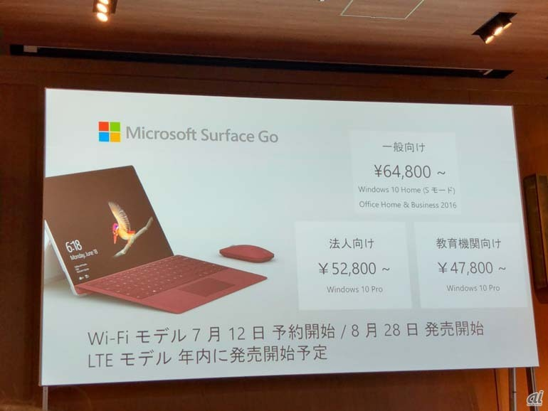 Surface Goの価格