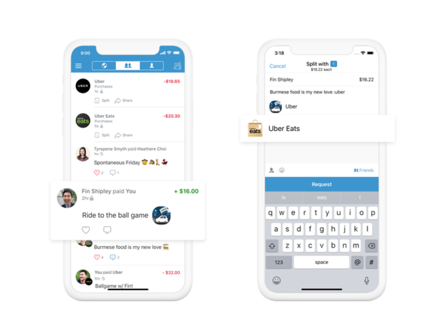 Uberがモバイル決済のVenmoに対応、割り勘も容易に