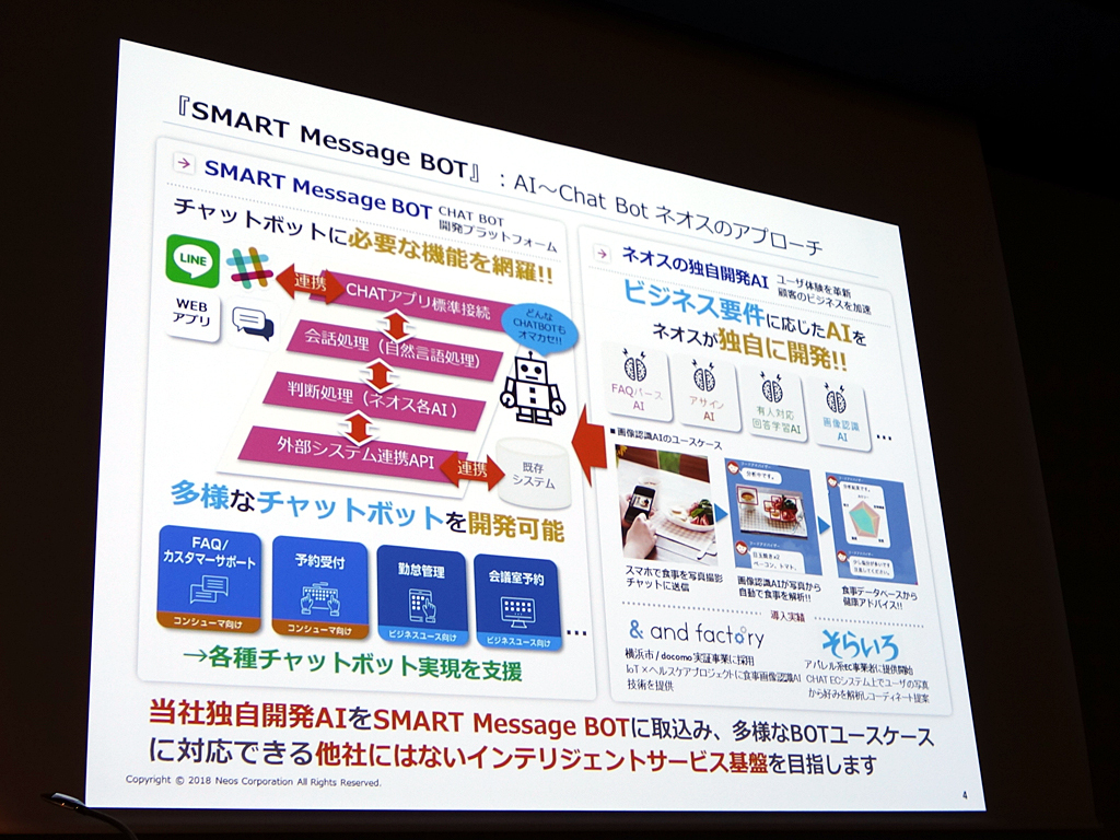 「SMART Message BOT」の概要