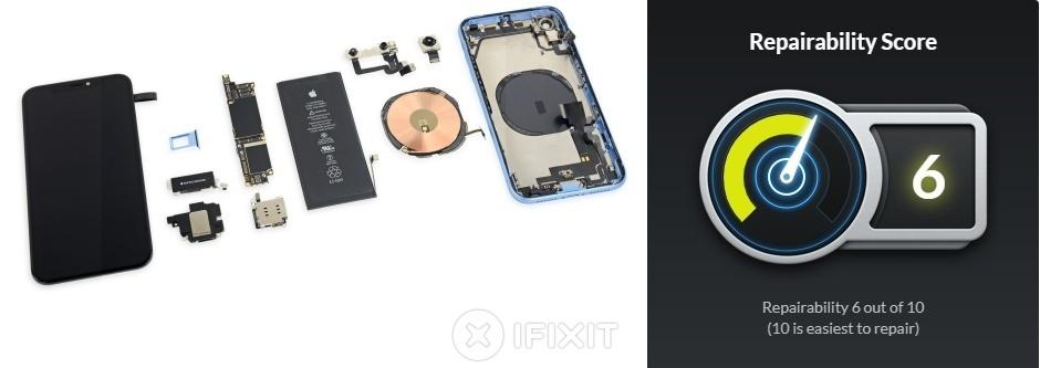 iPhone XR」の内部構造はiPhone XSよりも8似--iFixit分解
