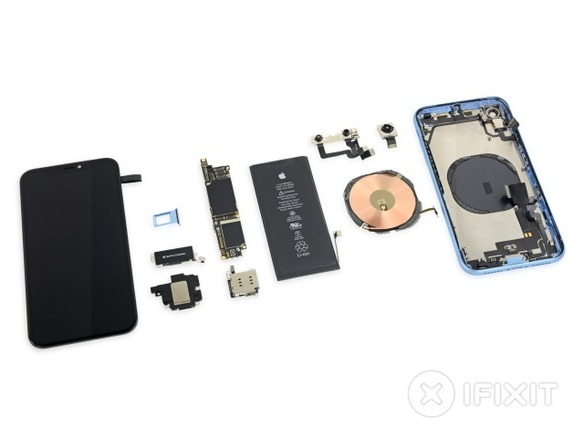「iPhone XR」の内部構造はiPhone XSよりも8似--iFixit分解レポート