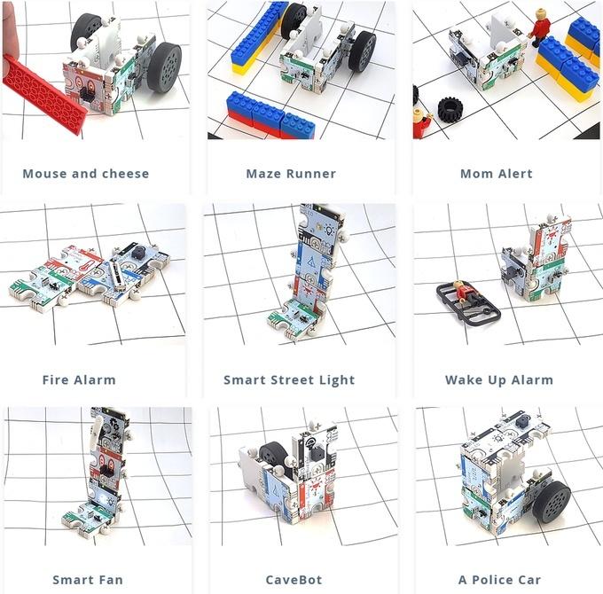可以制造的机器人示例(来源:Kickstarter)