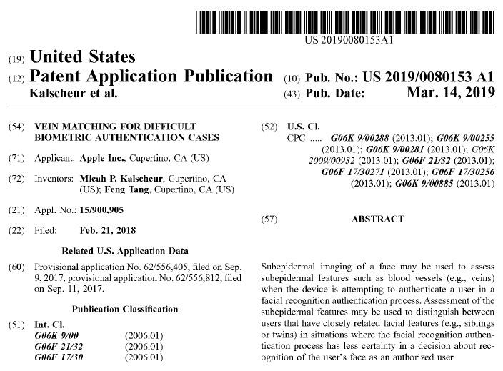 已发布的Apple专利(来源:USPTO)